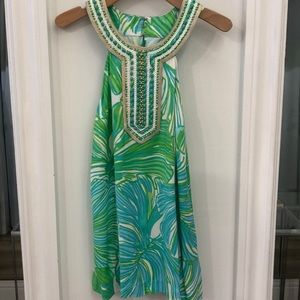 Lilly Pulitzer Pom fronds halter M